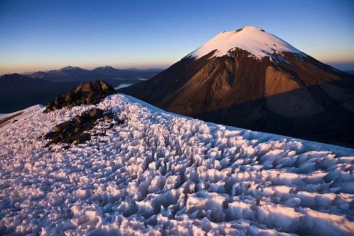 Volcano Parinacota, deserts by George Steinmetz