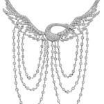 Wild Swan necklace in platinum