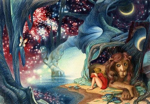 Cosmic drawings by Oleg Mayorov