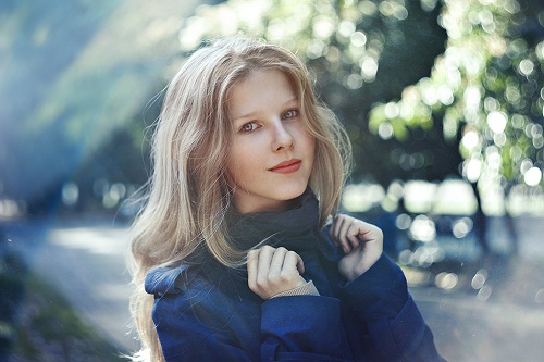 Girl in blue. Photographer Elena Alfyorova, Russia