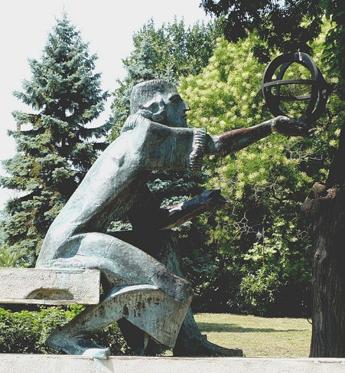 monument to Copernicus in Varna, Bulgaria