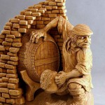Wood carving by Dales Sakalienes Droziniai