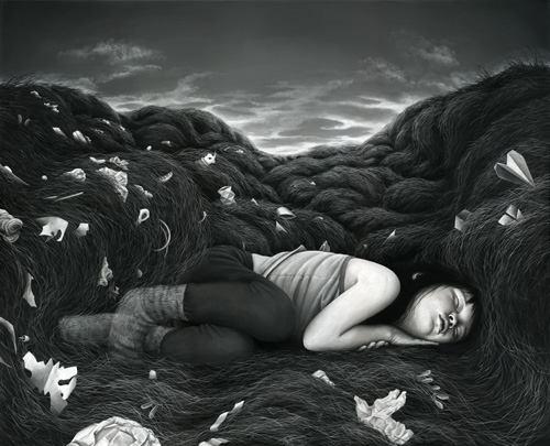 Paintings by German artist Moki Mioke 'How to Disappear'