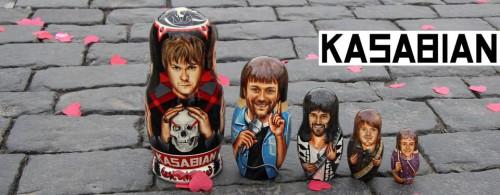 Painted on Matryoshkas portraits of musicians by Russian artist Yuri Gromov