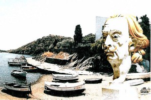 """Dali-Vision in Port Lligat"" with the portrait of Salvador Dali in front of his residence at Port Lligat in Spainwas was the ""Photo of the Year 2002″"