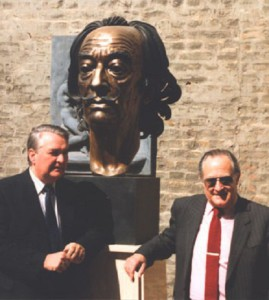 The bronze bust of Salvador Dali is an attraction in the Museum Europaische Kunst at the Norvenich Castle in Germany