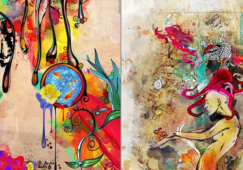 Psychedelic paintings by Indian visual artist Archan Nair