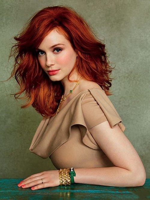 Christina Hendricks-beautiful woman with ideal shapes