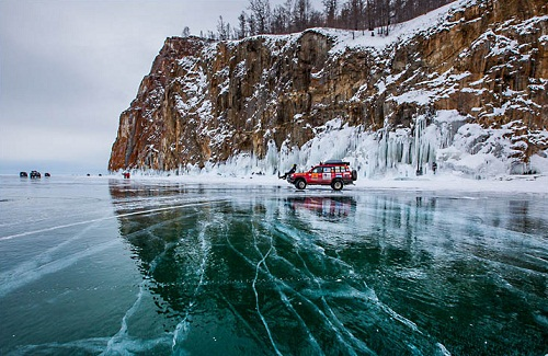 Beautiful nature of Siberia- the deepest lake in the world - the Baikal