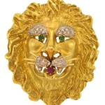 Hammerman Brothers Lion Head Pin