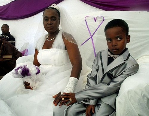 8-year-old boy married 61-year-old woman