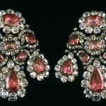 Jewelry set of Catherine II. Silver, diamonds, spinels, gold. 11.5 x 11 cm 1764. Master Leopold Pfisterer.
