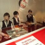 wax figures of the Beatles members