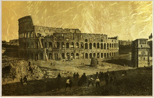 Colosseum, magnificent building has survived many destructive wars, has witnessed momentous events