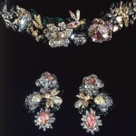 Tiara and earrings. Diamonds, gold, silver, enamel 1750s
