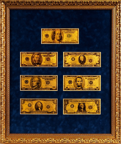 Gold banknotes