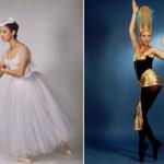 Heba Abdel Fattah. Fragment from the ballet 'Giselle'. Bolshoi Theatre, 1998 (left). The