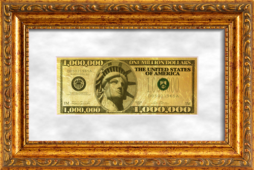 Have you ever seen million dollars in one banknote, made in gold
