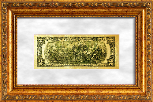 Commemorative two U.S. dollars. This bill is rarely seen in the cash flow, despite the fact that it was produced constantly. This bill is always limited edition