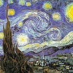 Starry night, from the miniature book 'Van Gogh'
