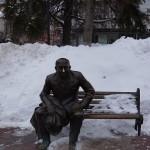 Nizhny Novgorod, Theatre Square, the monument to a Russian actor Evstigneev