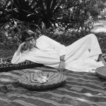 Yves Saint Laurent, enjoying his palace in Morocco