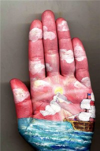 Colorful palm art by Svetlana Kolosova
