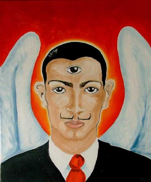 Dali by other artists. Dali by English artist Allison Carmichael
