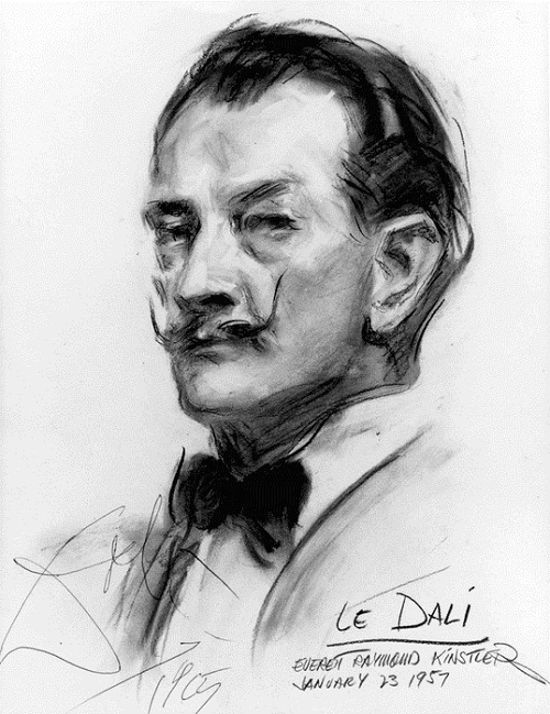 Dali by other artists. Dali by Everett Raymond Kinstler