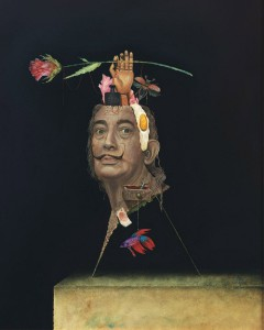 Dali by German painter Frank Kortan (born in Prague, Czech Republic in 1964), who works in style of surrealism, fantastical realism and trompe-l'oeil
