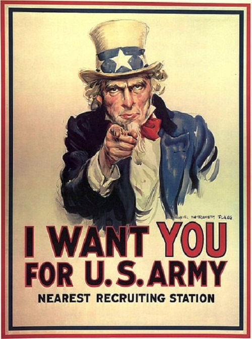 The American poster «I want you for US Army» (James Flagg, 1917)