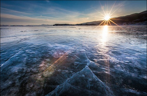 Lake Baikal, colors of sunset, photographer Alexander Cheban
