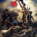 """French painting """"Liberty Leading the People"""" (Eugene Delacroix, 1830), in which the author depicted the national symbol of France - Marianne"""