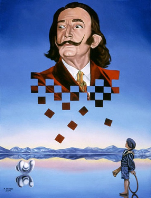 Dali by other artists. American self-taught artist Michael Bridges was born and lives in Columbus Ohio. Once he reached senior high, Michael discovered Salvador Dali, and realized he had found the niche where his heart laid — in surrealism.