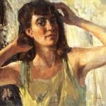 Morning. Oil painting of 1933 by Nina Vatolina