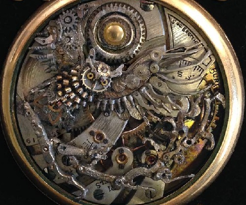 Watch sculptures and steampunk art by Sue Beatrice