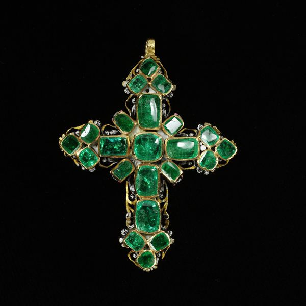 Emerald Pendant cross, 1650-1700