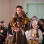 Russia is a multicultural country, participants demonstrate their national costumes