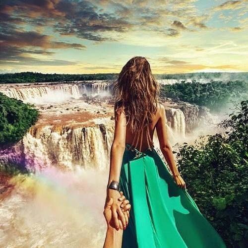 Stunning image taken at the Iguazu waterfalls in Brazil