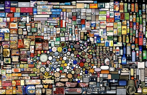 Things art mosaic by Chinese artist Hong Hao