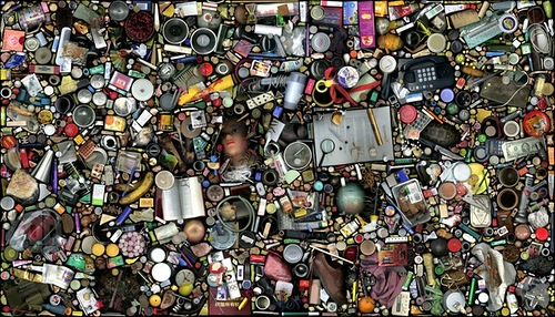 Things art mosaic from daily-life objects, artist Hong Hao, China