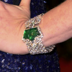 Victorian antique emerald and diamond bracelet