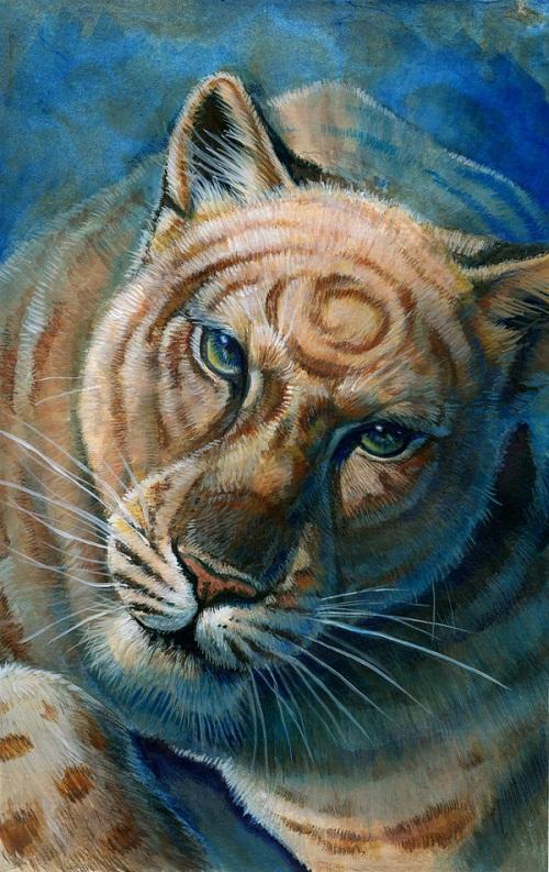 Painting by American artist Hillary Luetkemeyer (Hibbary)