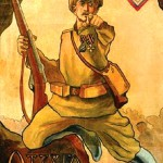 Why you are not in the army, 1919 poster of White Guard armies of Denikin and Kolchak