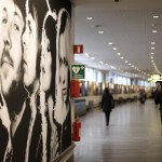 Sweden's most famous sons and daughters welcome visitors at Stockholm's Arlanda airport