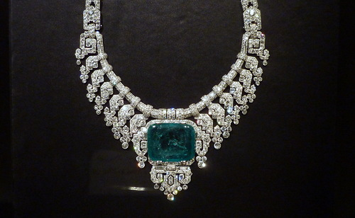 Women wearing emeralds