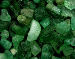 natural emeralds from this famous Russian Emerlad mine in Ural Mountains