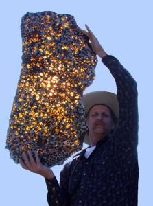 Space gemstone meteorite Fukang
