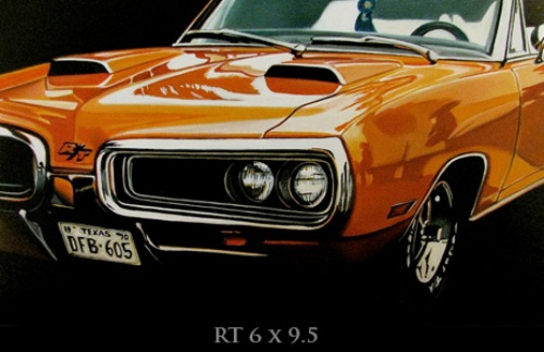 Hyperrealistic oil paintings of cars by Cheryl Kelley