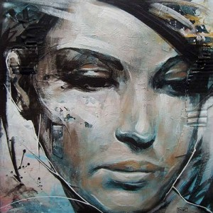 Stylised female portraits by English artist Danny O'Connor
